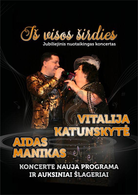 Vitalijos Katunskytės su Aidu Maniku jubiliejinis koncertas @ Šėtos kultūros centras