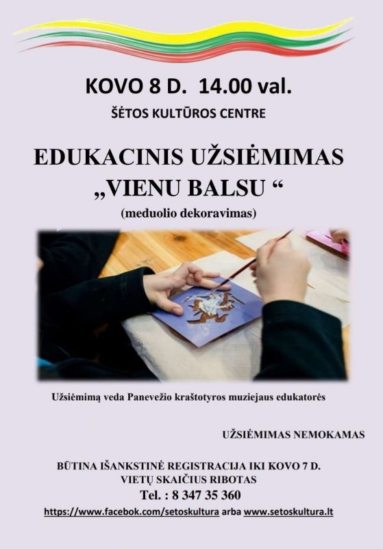 """Edukacinis užsiėmimas ,,Vienu balsu"""""""